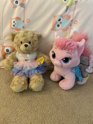 BRAND NEW WITH TAGS BEAUTIFUL BUILD-A-BEAR BALLERINA TEDDY BEAR & ADORABLE BALLERINA PINK CAT!! ($20 EACH!) for Sale in San Diego, CA