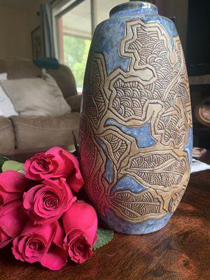 Vintage Malaysia handcraft flower vase for Sale in Orlando, FL