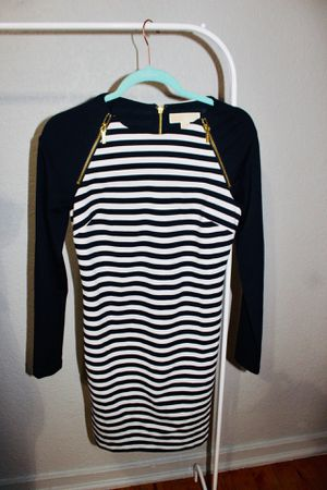 Michael Kors Striped Dress with Gold Zippers for Sale in Los Angeles, CA