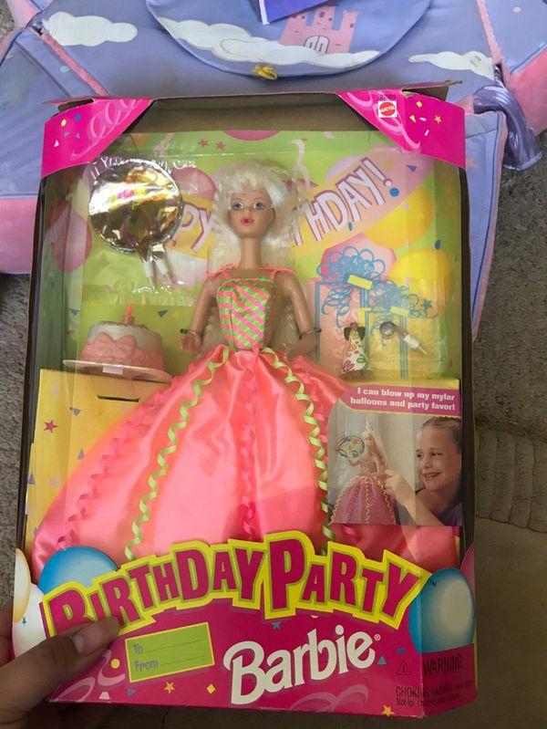 New birthday party barbie