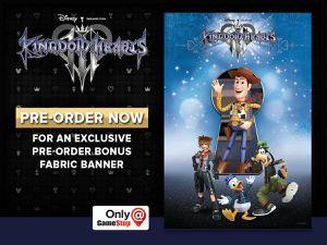 Kingdom Hearts 3 Gamestop Fabric Poster Banner for Sale in San Francisco, CA