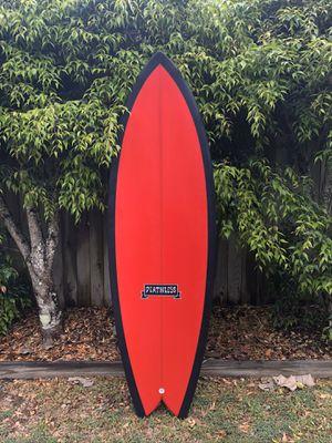 5'7 deathless twin fin surfboard Fish +leash +track pad BRAND NEW for Sale in Kailua-Kona, HI