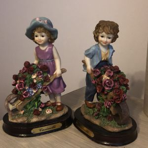 Casinelli boy and girl figurines for Sale in Miami, FL