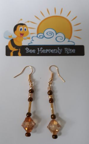 Diamond Shape, Brown Crystal Earrings for Sale in New Haven, CT