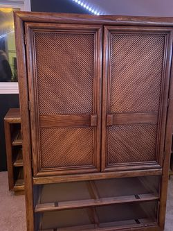 Solid Wood Armoire (Has Matching Dresser) for Sale in Lake Stevens,  WA