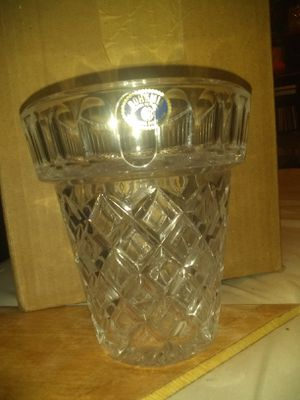 Vintage Bohemia Czech Republic Cut Lead Crystal Planter Shaped Bouquet Vase (Very good+) for Sale in Moore, OK