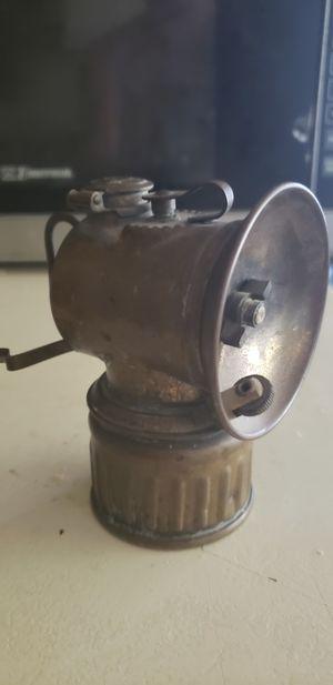 Vintage brass Justrite carbide miner's lamp for Sale in Irwindale, CA