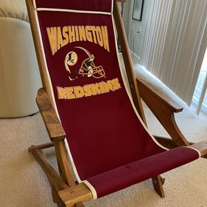 Vintage Redskins wooden rocking Chair for Sale in Reston, VA