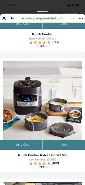 Pampered chef quick cooker for Sale in Pasadena, TX