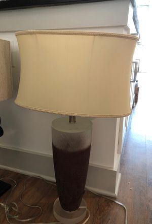 Lamp with bulb and lamp shade. Clear and rusted look glass, gorgeous and perfect condition for Sale in Nashville, TN