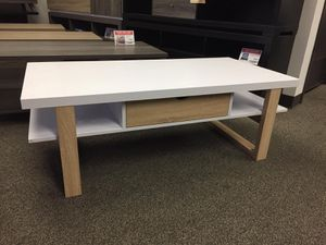 Stylish Coffee Table, White & Weathered for Sale in Downey, CA