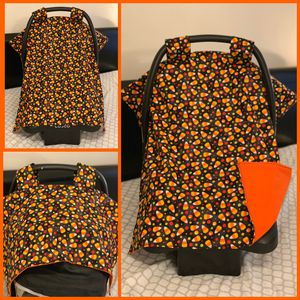 Candy corn car seat canopy for Sale in El Monte, CA