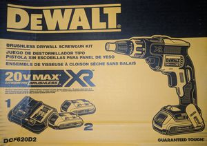 20-Volt MAX XR Lithium-Ion Cordless Brushless Drywall Screw Gun Kit with (2) Batteries 2Ah, Charger and Contractor Bag for Sale in Annandale, VA