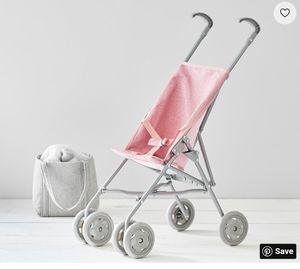 New Pink Glitter Umbrella doll stroller Pottery Barn for Sale in Wylie, TX