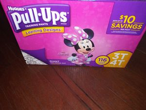 Huggies Pull-Ups 3T 4T 116 count plus one pack $40 for everything for Sale in Philadelphia, PA