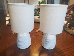 Matching mini end table night stand lamps! for Sale in Conklin, NY