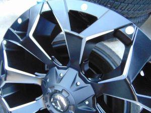 5 Brand New 20X9 Fuel Assault Matte Black Rims 1MM Offset*5X5 & 5X4.5* for Sale in Aurora, CO