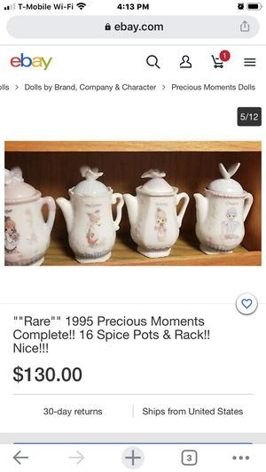 Precious moments complete 18 spice pots and Rack for Sale in Manteca, CA