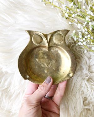 Vintage brass owl dish / eclectic boho decor for Sale in Hillsboro, OR