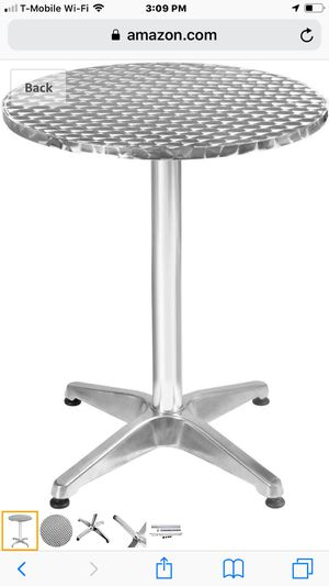 Square and circle adjustable Table. for Sale in Raleigh, NC