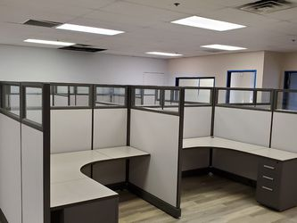 Tall Panel Cubicles With Partial Glass Panels for Sale in Placentia,  CA