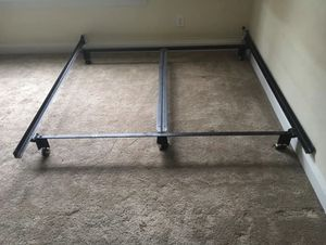 California King Bed Frame with easy roll wheels for Sale in Rocky Point, NC