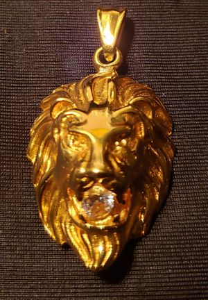 Stainless steel lion charm with cz. for Sale in Sanford, FL