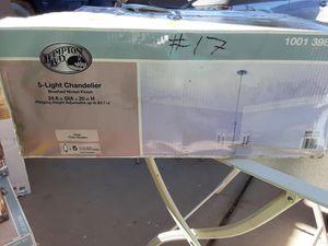Hampton bay 5 light chandelier for Sale in Las Vegas, NV