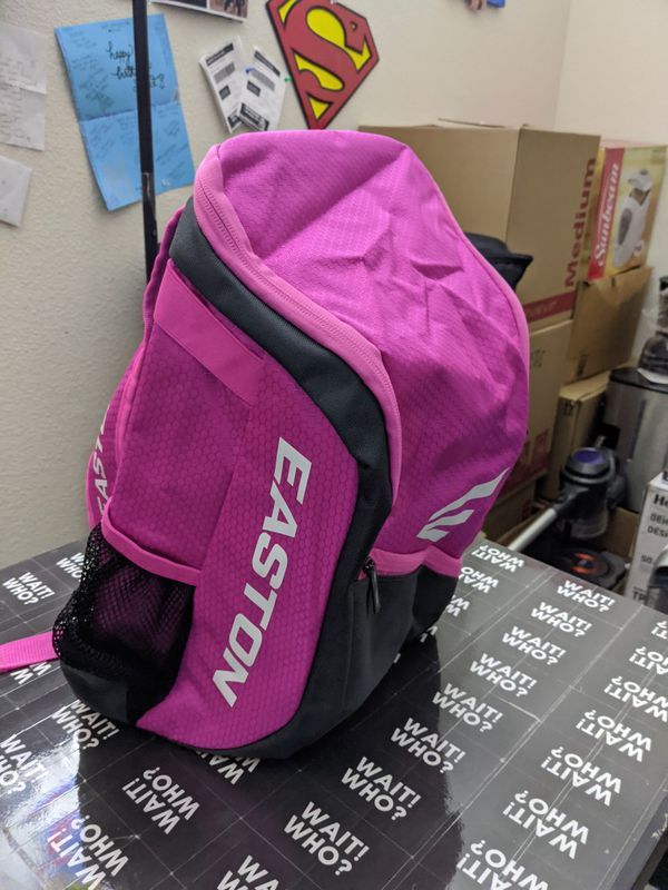 EASTON GAME READY YOUTH Bat & Equipment Backpack, Baseball / Softball Bag, Pink