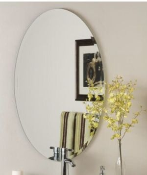 Oval frameless vanity or wall mirror for Sale in Lakeline, OH