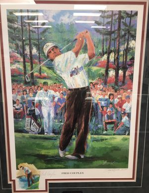 Fred Couples 1992 Masters Print w COA Autograph for Sale in Chandler, AZ