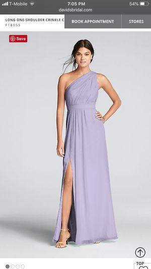 David's Bridal Size 10 Iris Long Bridesmaid Dress for Sale in Tacoma, WA
