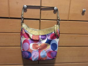 Authentic Coach scarf bag multi-colored for Sale in Goddard, KS