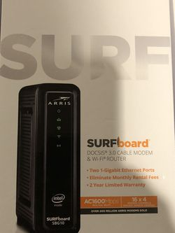 Modem/router Combo ARRIS surfboard sbg10 for Sale in Sykesville,  MD