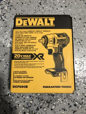 DEWALT 20-Volt Max Lithium-Ion 3/8 in. Cordless Compact Impact Wrench (Tool-Only) for Sale in Lemont, IL