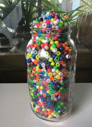 Plastic pony beads (over 2 lbs!) for Sale in Austin, TX