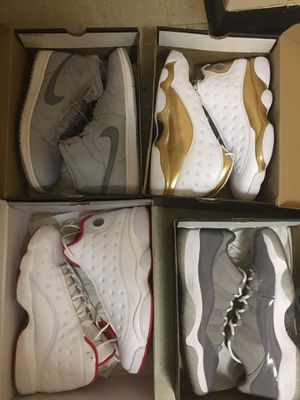 Jordan Lot All Size Mens 13 VNDS DMP 13, Cool Grey 11 low, HOF 13 , Cool Grey Mid 1 for Sale in Charlotte, NC