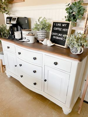 Large Buffet - Coffee Bar, Entry Table (Snow/Calloway) for Sale in Bakersfield, CA