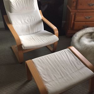 IKEA Poang Armchair And Ottoman for Sale in Portland, OR