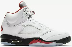 *New* Air Jordan 5 Retro Fire Red Silver Tongue (2020) Size 13 100% Authentic for Sale in Crystal, MN
