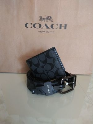 Coach Wallet And Belt Set for Sale in Bloomington, CA