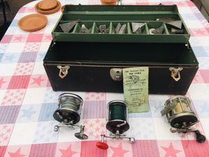 Vintage fishing tackle box and reels for Sale in Santa Clara, CA