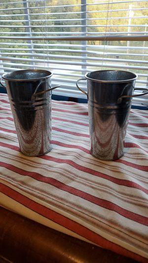 Metal flower pots for Sale in Culleoka, TN