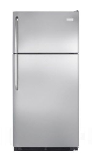 Frigidaire 18 cu. ft. Top Freezer Refrigerator in Stainless Steel for Sale in Annandale, VA