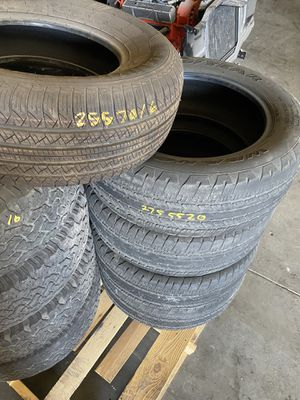 Used tires and new look at pic for Sale in Modesto, CA