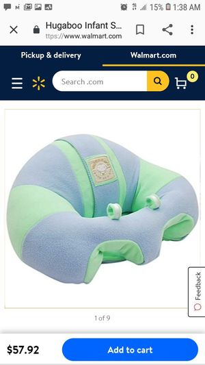 Hugaboo Infant Sitting Chair - Green n' Blue Fleece for Sale in Sacramento, CA