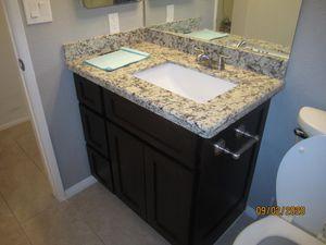 Dark Shaker vanity with granite counter, 36 inch base for Sale in Sun City, AZ