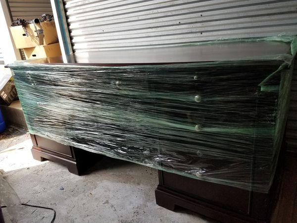 Solid cherry oak wood desk