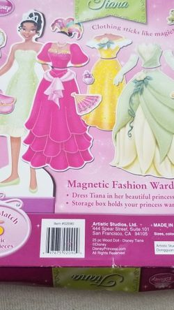 Princess Tiana Magnetic Fashion Wardrobe; Princess And The Frog for Sale in Lakewood,  CA