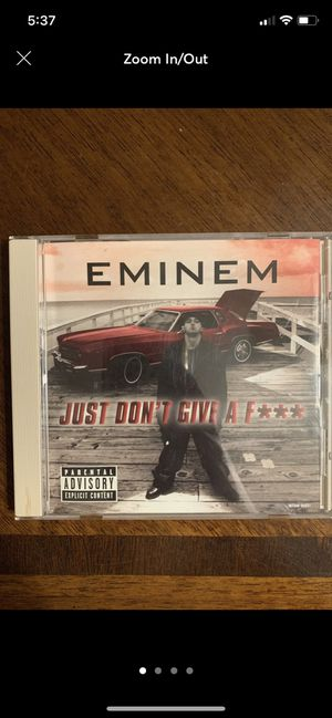 Eminem Just Don't Give a F*** CD single for Sale in Fresno, CA